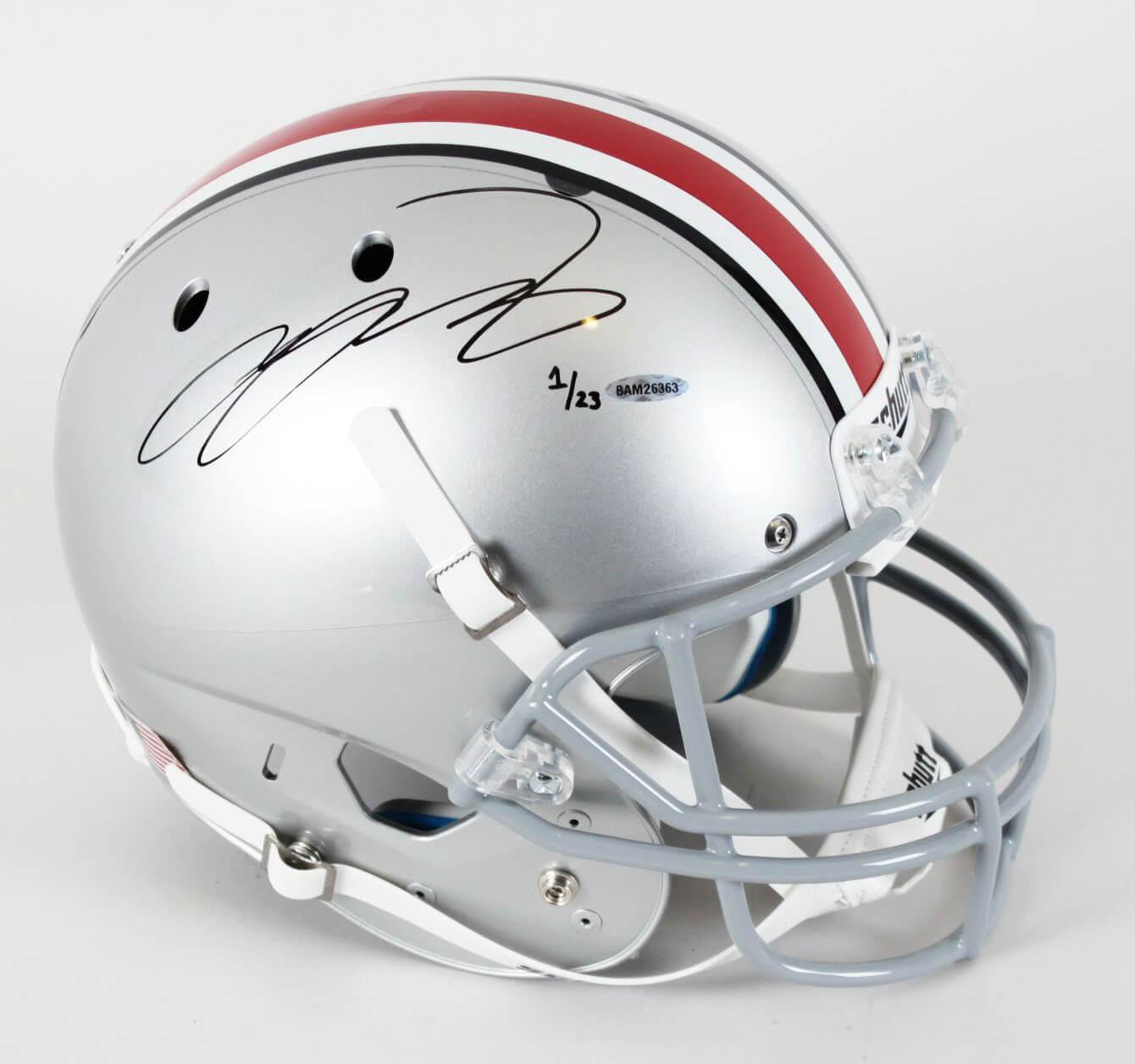 Ohio State Buckeyes - LeBron James Signed Full Size Helmet LE 1/23 (UDA COA)