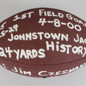 1998-IFL - Jackals - Jim Czesnakowski Game-Used Football