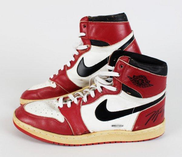 Rare Air Jordan Shoes Worn, Signed