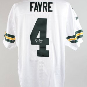 Green Bay Packers - Brett Favre Signed Away Jersey (UDA COA) & Photo (JSA)