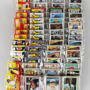 Sports Card Rack Pack Collection Lot 1982 & 1984 Topps Football, 1985 Baseball