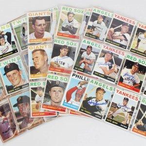1962 & 1964 Topps Baseball Signed Card Lot (99) - Kubek, Pesky, Tresh etc..