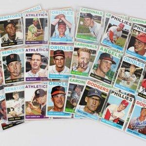 1964 Topps Baseball Signed Card Lot (96) - Wine, Moon, Howard etc..