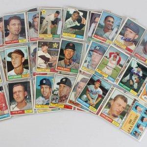 1961 Topps Baseball Signed Card Lot (99) - Larsen, Zimmer, Yost etc..