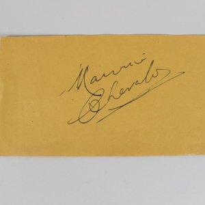 Maurice Chevalier Signed 4x8 Cut (JSA)