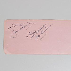 Star Wars - Alec Guinness Signed & Inscribed 4x8 Cut (JSA)