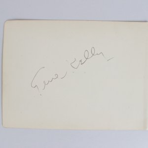 Singin' in the Rain - Gene Kelly Signed 5x6 Cut (JSA)