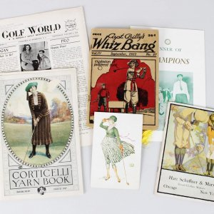 Vintage Golf Programs & Publications Feat. U.S. Open Dinner, Woman Golfers, 1917 Golf Fashion Booklet etc.