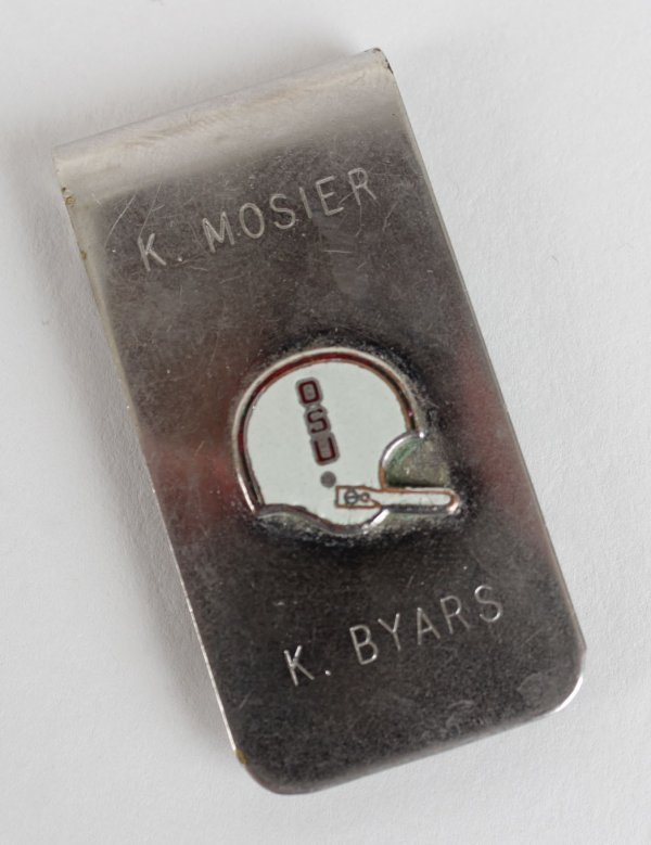1982 Ohio State Buckeyes - Keith Byars Recruitment Money Clip (Letter of Provenance)
