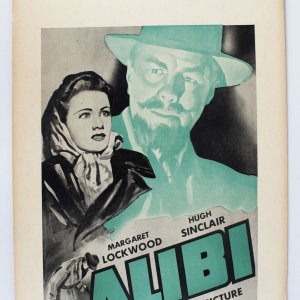 James Mason in ALIBI - 1942 Movie Poster