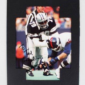 Dallas Cowboys Harvey Martin Signed 8x10 Photo - COA