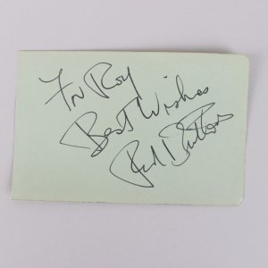Red Buttons Signed Album Page - COA JSA