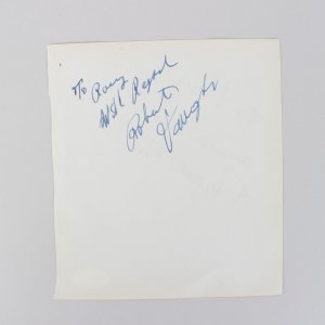 Robert Vaughn & Magali Noël Signed 5x6 Cut (JSA)