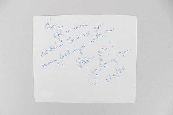 Midnight Cowboy - Jon Voight Signed & Inscribed 5x6 Cut (JSA)