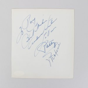 The Andrew Sisters - LaVerne, Patty & Maxine Signed 5x6 Cut (JSA)