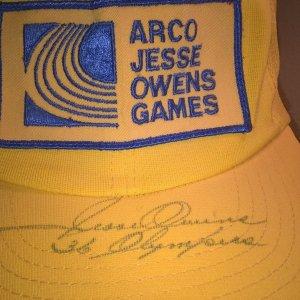 jesse owens signed cap