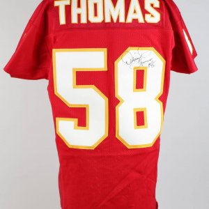 Rare KC Chiefs - Derrick Thomas Signed & Inscribed Home Jersey - JSA Full LOA