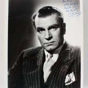 Actor - Laurence Olivier Signed & Inscribed 8x10 Vintage Photo - COA JSA