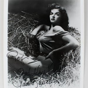 Actress - Jane Russell Signed 8x10 Photo (JSA)