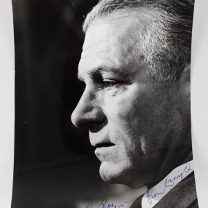 Actor - Laurence Olivier Signed 8x10 Photo - COA JSA
