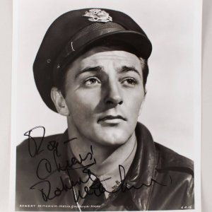 Cape Fear - Robert Mitchum Signed & Inscribed 8x10 Photo - COA JSA