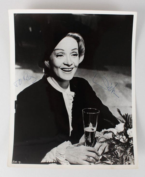 Actress - Marlene Dietrich Signed 8x10 Photo (JSA)