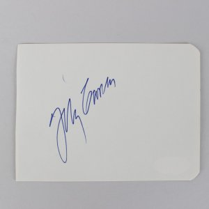 The Tonight Show - Johnny Carson Signed 3x5 Vintage Cut - COA JSA