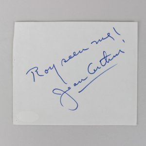 Actress - Jean Arthur Signed 5x6 Cut (JSA)