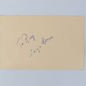 Sonja Henie & Marc Lawrence Signed 4x6 Cut (JSA)