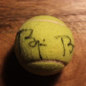 A Bjorn Borg Game-Used & Signed Gamma Tennis Match Ball.  Excellent Provenance.