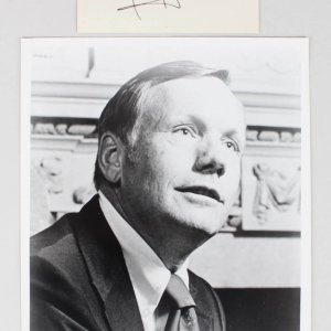 Apollo 11 Moon Walk - Neil Armstrong Photo with Signed Cut (JSA Full LOA)