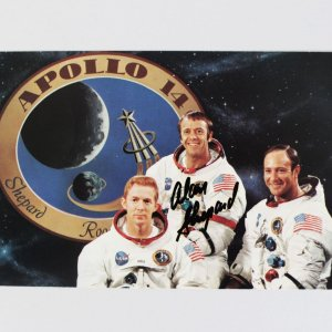 Apollo 14 NASA Astronaut – Alan Shepard Signed Photo Card Cut - JSA