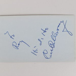 Cab Calloway & Jerry Colonna Signed 3x5 Cut (JSA)