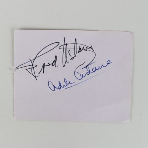 Fred Astaire & Adele Astaire Signed 3x4 Cut (JSA)