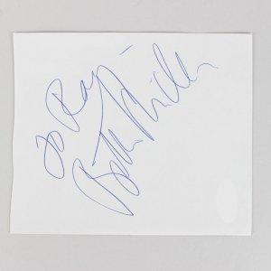 Bette Midler Signed 4x5 Cut (JSA)