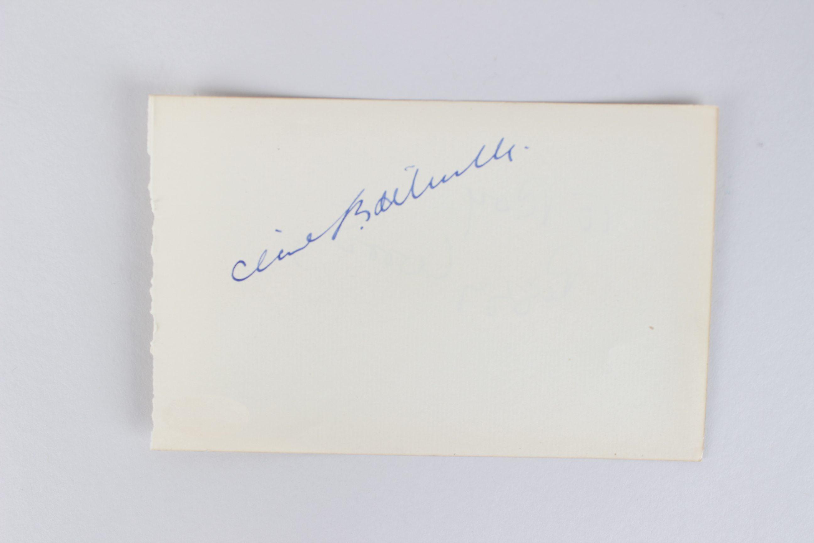 Cecil B. DeMille & Peggy Wood Signed 4x6 Cut (JSA)