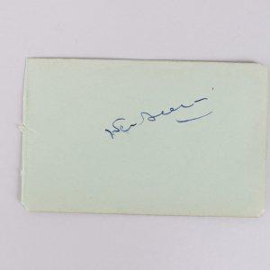Federico Fellini Signed 3x5 Cut (JSA)