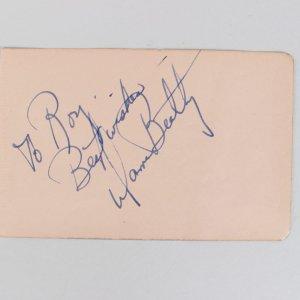 Actor - Warren Beatty Signed & Inscribed 3x5 Cut (JSA)