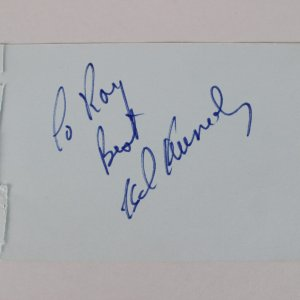 Ted Kennedy Signed Cut Album Page