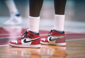 Michael Jordans game worn air jordans