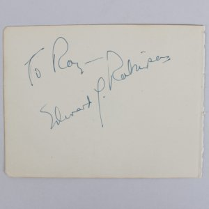 Little Caesar - Edward G. Robinson Signed 4x5 Cut (JSA)