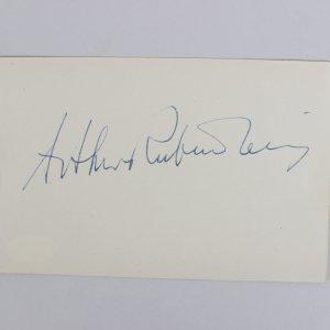 Pianist - Arthur Rubinstein Signed 4x6 Cut (JSA)