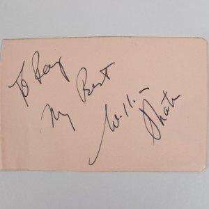 Star Trek - William Shatner Signed & Inscribed 3x5 Cut (JSA)