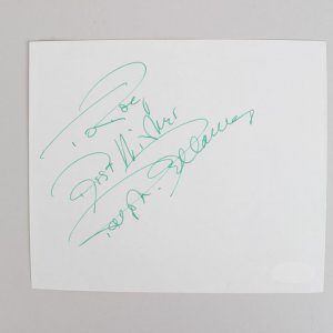 The Awful Truth - Ralph Bellamy Signed & Inscribed 5x6 Cut (JSA)
