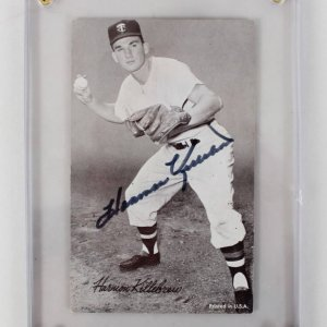 Minnesota Twins - Harmon Killebrew Signed 3x5 Exhibit Card (JSA)