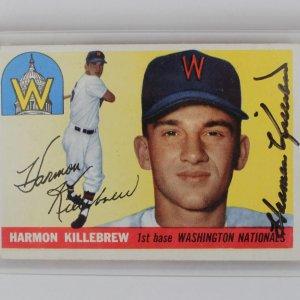 1955 Nationals - Harmon Killebrew Signed RC Baseball Card (PSA)