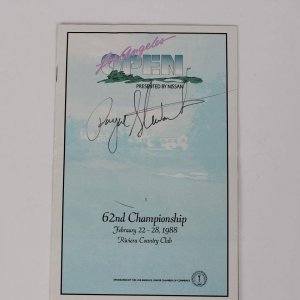 1962 -Golf- Payne Stewart Signed LA Open Riviera Country Club - JSA