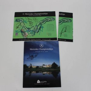 1998 Golf Tournament Multi-Signed Program- Tiger Woods, etc. - JSA