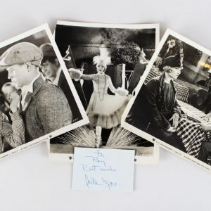 1925 Sally - Colleen Moore Signed 3x4 Cut- Lot of (3) Original Movie Studio 8x10 Photos (JSA)