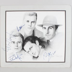 1988 Rock Band U2 Signed Artist Print Bono, The Edge, Adam Clayton & Larry Mullen, Jr. (JSA Full LOA)
